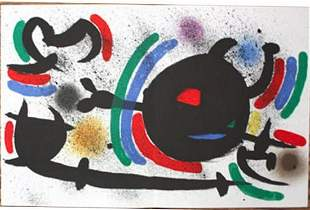 MIRO LITHOGRAPH DOUBLE PAGE FROM BOOK 1 # X MINT