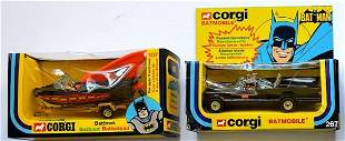 CORGI BATMAN GIFT SET-BATMOBILE AND BAT BOAT.TRILENGUA