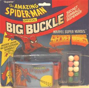 THE AMAZING SPIDER-MAN OFFICIAL BIG BUCKLE WITH GUMBALL