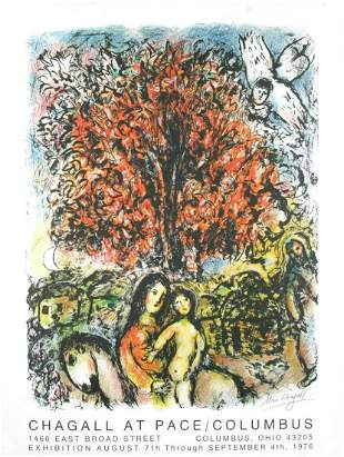 """Marc Chagall - """"Chagall at Pace / Columbus/Ohio in 1976"""