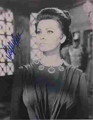 Sophia Loren - 8 x 10 Signed Photograph w/COA