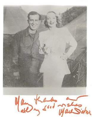 M. DIETRICH 8 x 10 SIGNED PHOTO DEDICATED RARE W/ COA