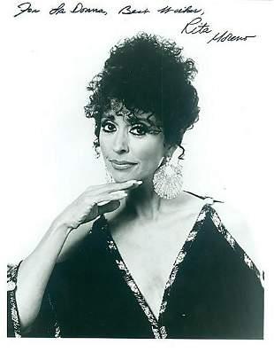Rita Moreno- 8x10 Signed black and white photograph