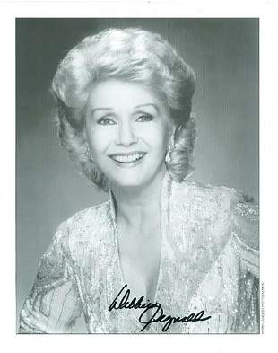 Debbie Reynolds- 8x10 Signed black and white photograph