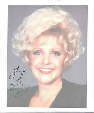 BRENDA LEE - 8 X 10 SIGNED PHOTOGRAPH W/COA