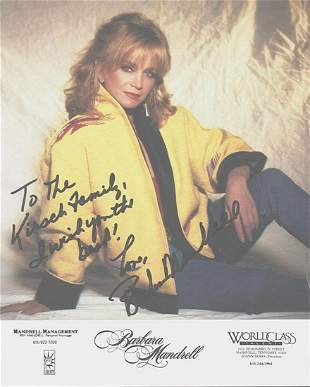 BARBARA MANDRELL 8 X 10 SIGNED COLOR CARDSTOCK