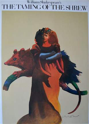"""Milton Glaser - """"William Shakespeare's  The Taming Of"""