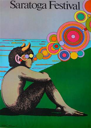 "Milton Glaser - ""Saratoga Festival"""