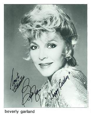 Beverly Garland- 8x10 Signed black and white photograph