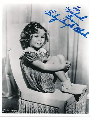 Shirley Temple Black- 8 x 10 Glossy signed photograph