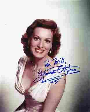 Rare Maureen O'Hara- 8 x 10 Color Glossy signed