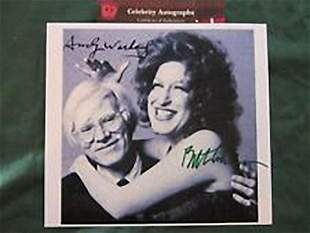 BETTE MIDLER & ANDY WARHOL - 8 X 10 PHOTOGRAPH
