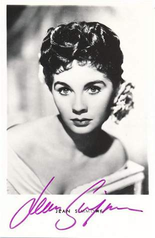 Jean Simmons- 3.5 x 5.5 Signed Picture Postcard w/COA