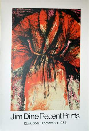 Jim Dine Recent Prints Exhibition Poster