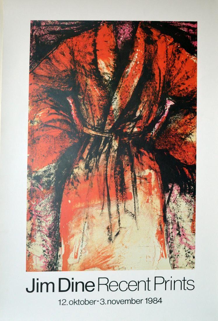 Jim Dine Recent Prints Exhibition Poster