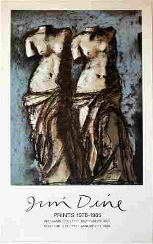 Rare Jim Dine Exhibition Prints Poster