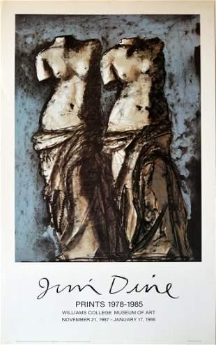 Rare Jim Dine Exhibition Prints Poster