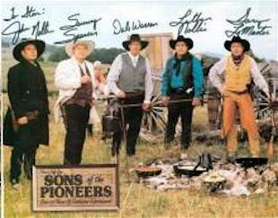 SONS OF PIONEERS SIGNED 8 X 10 PHOTOGRAPH