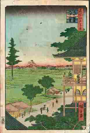 Hiroshige (1797 - 1858) Japanese Woodblock Print