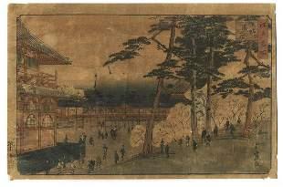 Hiroshige II (1826 - 1869) Japanese Woodblock Print