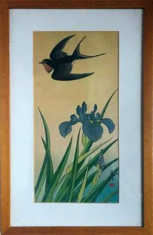 Jo Hashimoto - Swallow Bird (w/ Framed)