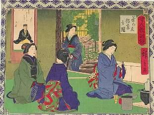 "Heroshige - ""Women Working"" - Japanese Woodblock Print"