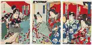 Original Kunisada III (1848 - 1920) Japanese Woodblock