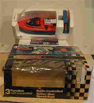 THE AMAZING 3 FUNCTION SPIDERMAN SPEED BOAT