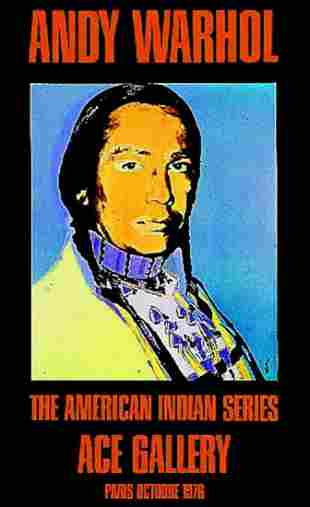 """Andy Warhol, """"American Indian"""".Russel Means"""