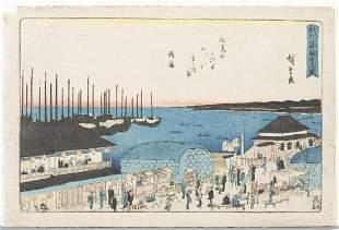 """Hiroshige - """"Moon Viewing at Takanawa on the Night"""""""