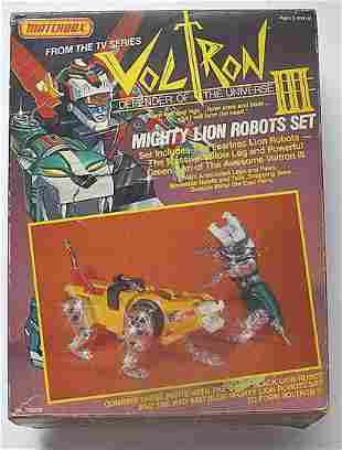MATCHBOX VOLTRON III MIGHTY LION ROBOTS SET