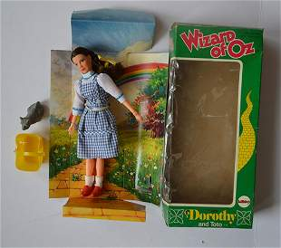 """VINTAGE WIZARD OF OZ """"DOROTHY & TOTO"""" DOLL"""