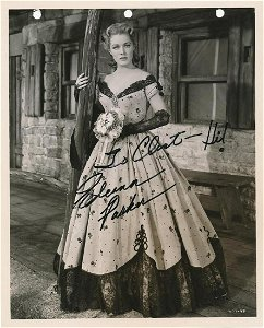 Eleanor Parker- 8 x 10 Vintage sepia glossy signed