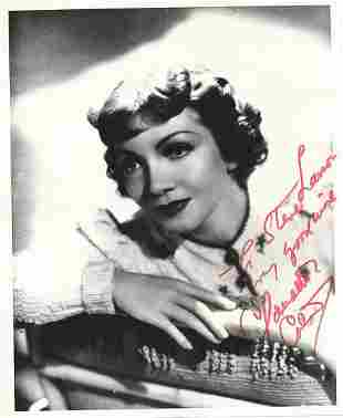 Claudette Colbert- 8 x 10 Glossy signed photograph