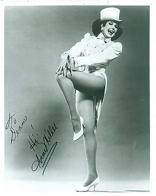Ann Miller- 8x10 Signed black and white photograph