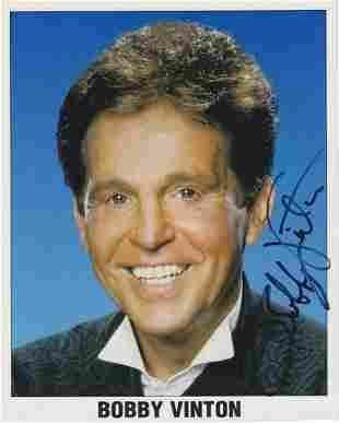 Bobby Vinton - 8 x 10 Signed Photograph w/COA