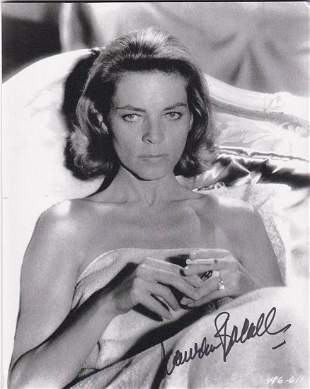 Lauren Bacall - 7.75 x 9.75 Signed Photograph w/COA