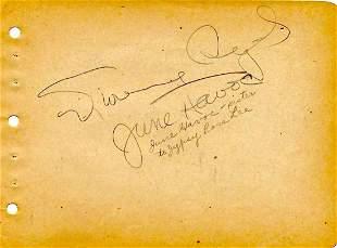 Frances Starr, Dorothy McGuire & June Havoc- Signed