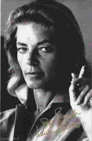 Lauren Bacall - 7 x 10.75 Signed Photograph w/COA
