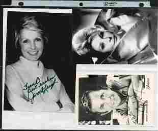 SIGNED ARLENE DAHL, MOREY AMSTERDAM & JANET LEIGH PHOTO