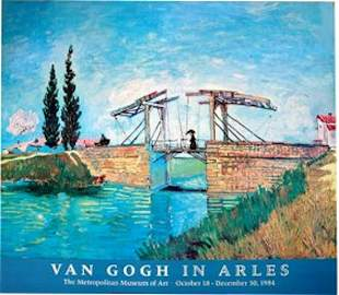 """VAN GOGH """"VAN GOGH IN ARLES"""" THE LONGLOIS BRIDGE"""