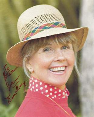 Doris Day- 8 x 10 Color signed card stock photograph