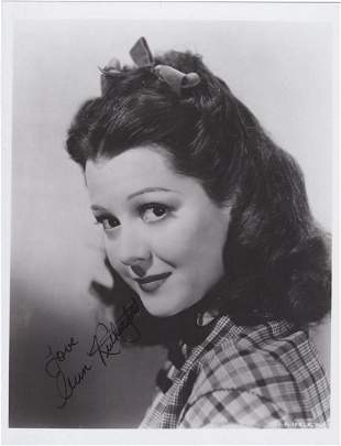 Ann Rutherford - Signed 8 x 10 Photograph w/COA