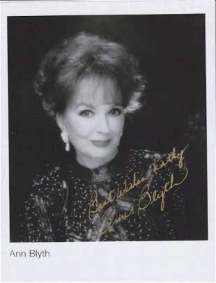 Ann Blyth - 8.5 x 11 Signed Photograph w/COA