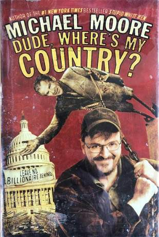 Michael Moore- 1st edition signed hardbound book w/COA