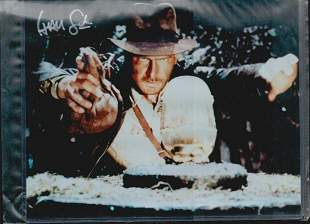 HARRISON FORD SIGNED 8 X 10 PHOTOGRAPH. THE