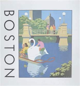 COREN SHERMAN SIGNED BOSTON POSTER