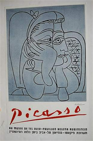 PICASSO AU MUSEE DE TEL AVIV POSTER