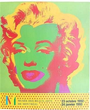 ANDY WARHOL MARILYN MONROE MUSEE DES BEAUX-ARTS DE MON