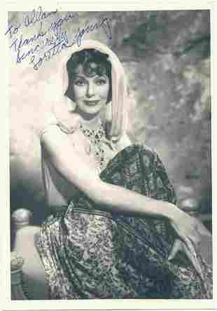Loretta Young- 5 x 7 Vintage Photograph Signed w/COA